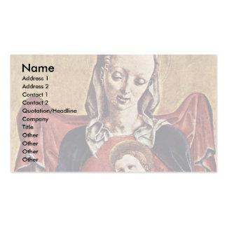 Madonna de Tura Cosmè Plantilla De Tarjeta De Negocio