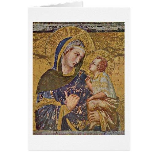 Madonna Dei Tramonti By Pietro Lorenzetti Greeting Cards