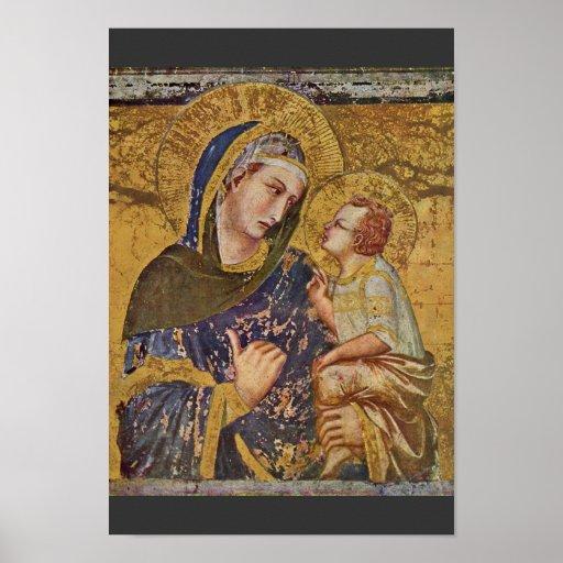 Madonna Dei Tramonti de Lorenzetti Pedro Póster