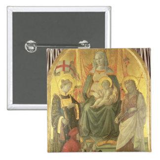 Madonna del Ceppo, 1453 (and detail 62016) Pinback Button