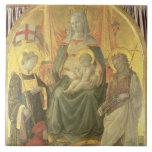 Madonna del Ceppo, 1453 (y detalle 62016) Azulejo Cuadrado Grande