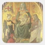 Madonna del Ceppo, 1453 (y detalle 62016) Pegatina Cuadrada
