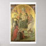 Madonna del Ceppo, 1453 (y detalle 62016) Póster