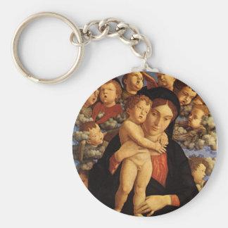 Madonna del Cherubim de Andrea Mantegna Llavero Redondo Tipo Pin