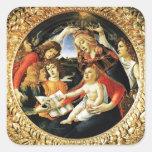 Madonna del cuadrado de Magnificat Pegatina Cuadradas