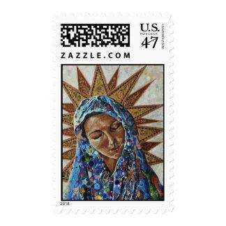 Madonna del expropiado timbre postal