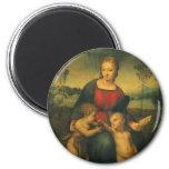 Madonna del Goldfinch, arte renacentista de Imán Redondo 5 Cm