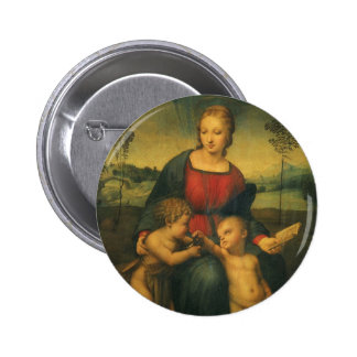 Madonna del Goldfinch, arte renacentista de Chapa Redonda 5 Cm
