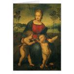 Madonna del Goldfinch, arte renacentista de Tarjeta De Felicitación