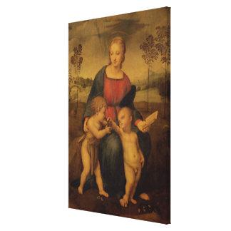 Madonna del Goldfinch, c.1506 Impresión En Lona Estirada