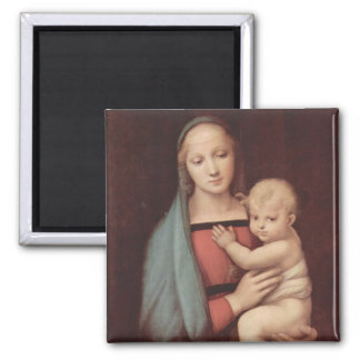 Madonna Del Granduca by Raphael 2 Inch Square Magnet