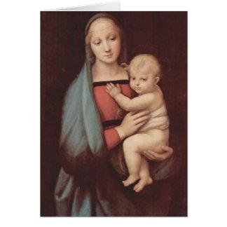 Madonna Del Granduca by Raphael Greeting Card