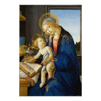 Madonna del libro por Botticelli Fotografias