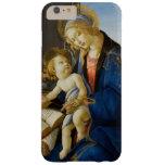 Madonna del libro por Botticelli Funda De iPhone 6 Plus Barely There