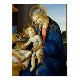 Madonna del libro por Botticelli Postales