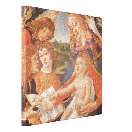 Madonna del Magnificat, Botticelli, renacimiento Impresión En Lona