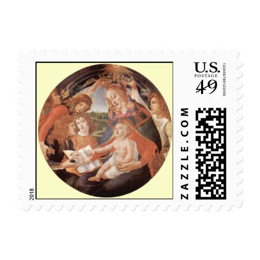 Madonna del Magnificat by Botticelli Stamps
