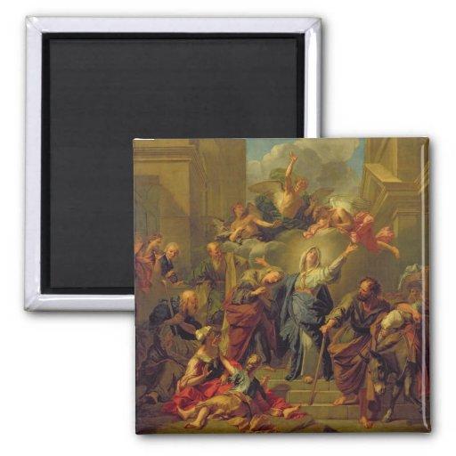 Madonna del Magnificat Imán De Frigorífico