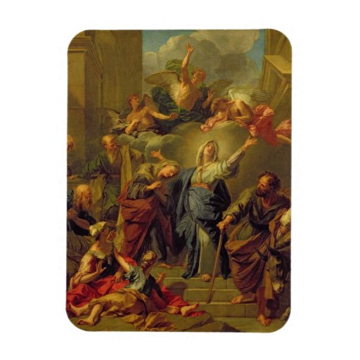 Madonna del Magnificat Imán De Vinilo