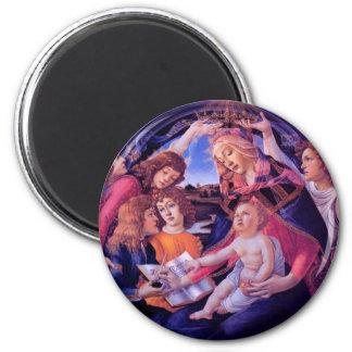 Madonna del Magnificat Imán Redondo 5 Cm