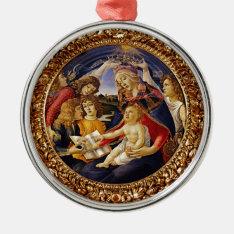 Madonna Del Magnificat Metal Ornament at Zazzle