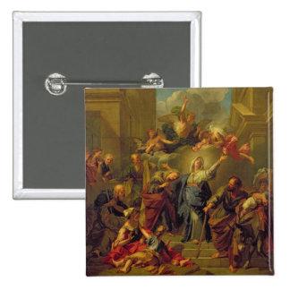 Madonna del Magnificat Pin Cuadrado