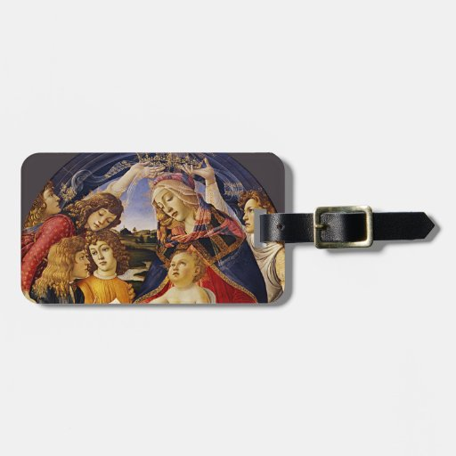 Madonna del Magnificat por Botticelli Etiqueta De Equipaje
