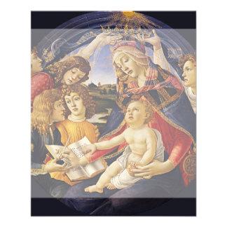 "Madonna del Magnificat por Botticelli Folleto 4.5"" X 5.6"""
