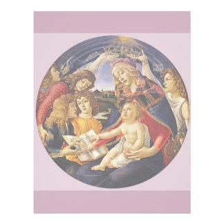 "Madonna del Magnificat por Botticelli Folleto 8.5"" X 11"""