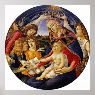 Madonna del Magnificat por Botticelli Póster