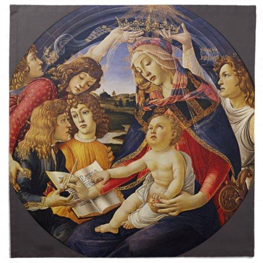 Madonna del Magnificat por Botticelli Servilletas De Papel