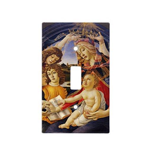 Madonna del Magnificat por Botticelli Cubiertas Para Interruptor