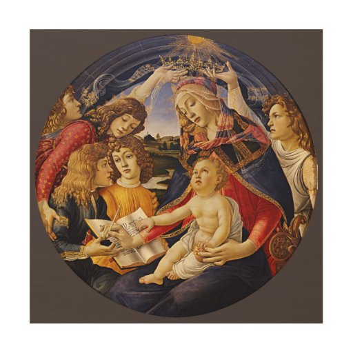 Madonna del Magnificat por Botticelli Cuadros De Madera