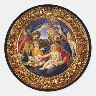 Madonna del Magnificat Classic Round Sticker