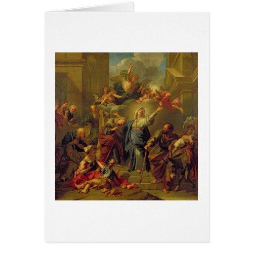 Madonna del Magnificat Tarjetas
