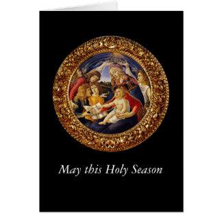 Madonna del Magnificat Tarjeta De Felicitación