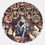 Madonna del rosario por la loteria Lorenzo (el Etiquetas Redondas