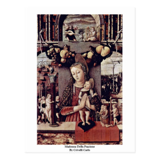 Madonna Della Passione By Crivelli Carlo Postcard