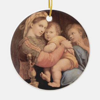 Madonna della Sedia by Raphael Ornamant Christmas Tree Ornament
