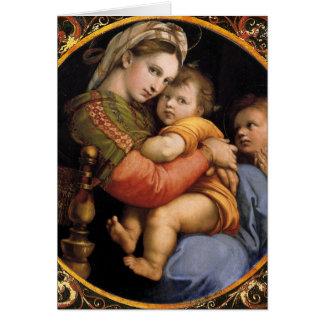 Madonna della sedia Christmas Card