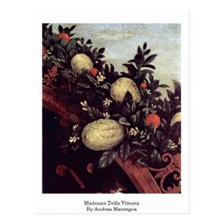 Madonna Della Vittoria By Andrea Mantegna Postcard