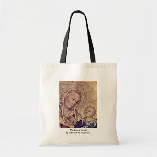 Madonna Detail By Gentile Da Fabriano Tote Bags