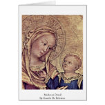 Madonna Detail By Gentile Da Fabriano Greeting Card