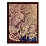 Madonna Detail By Gentile Da Fabriano Postcard