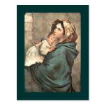 Madonna en bufanda detiene al bebé Jesús
