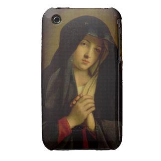 Madonna en el dolor (aceite en lona) funda para iPhone 3