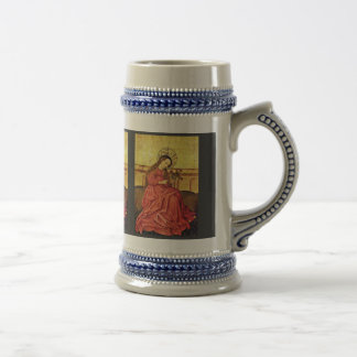 Madonna en el jardín por el amo renano desconocido jarra de cerveza