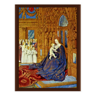 Madonna en el portal de una catedral de Fouquet Je Postal
