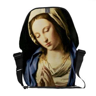 Madonna en el rezo (aceite en lona) bolsa de mensajería
