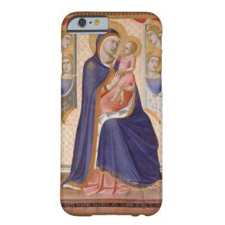 Madonna en la gloria, c.1315 (tempera en el panel) funda de iPhone 6 barely there